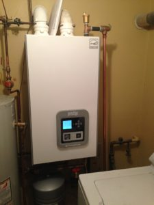 Triangle tube boiler install